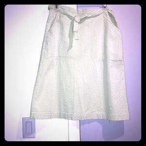 Lilly Pulitzer Lime Green Seersucker Wrap Skirt 2